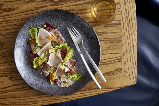 Mode Kitchen & Bar - Swordfish, citrus, pistachio and radicchio